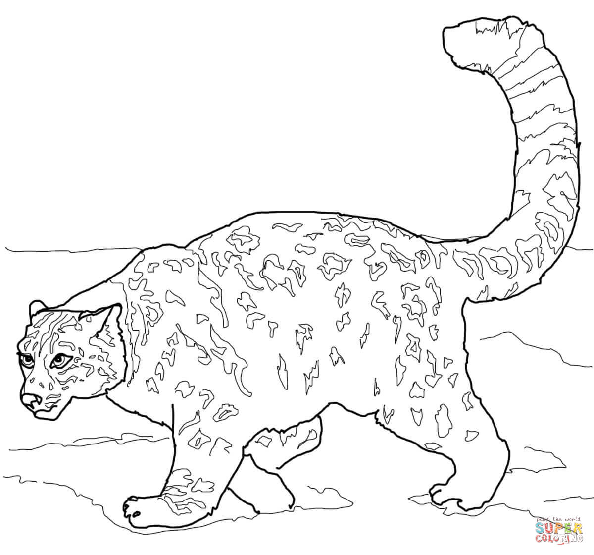 Leopard coloring #19, Download drawings