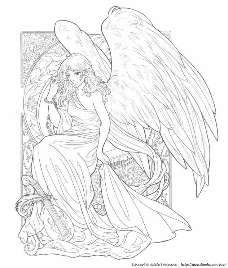 Angel Statue coloring #9, Download drawings