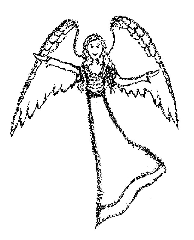 Angel Statue coloring #10, Download drawings