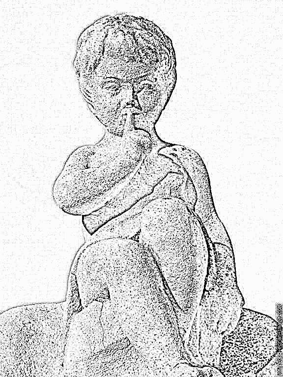 Angel Statue coloring #5, Download drawings