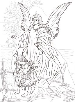 Angel Statue coloring #2, Download drawings