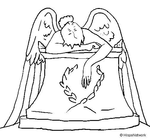 Angel Statue coloring #7, Download drawings