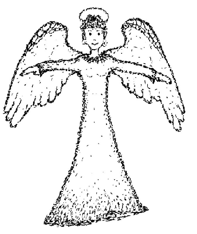 Angel Statue coloring #20, Download drawings