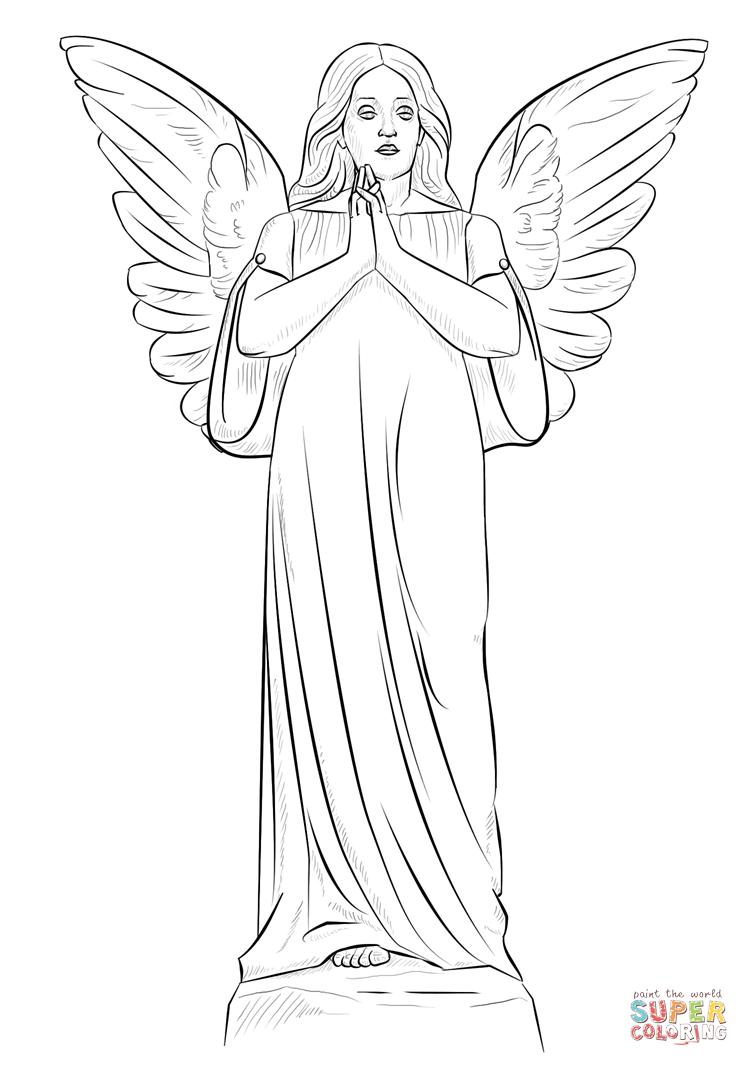 Angel Statue coloring #14, Download drawings
