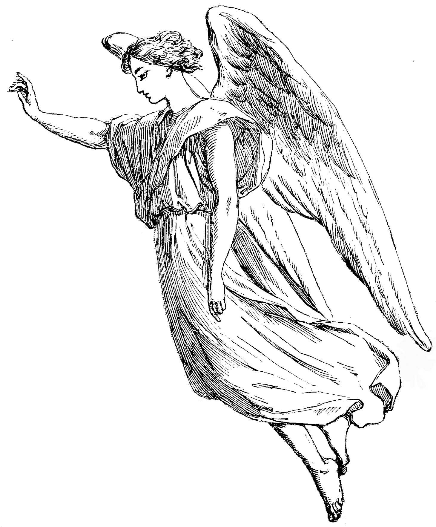 Angel Statue coloring #15, Download drawings