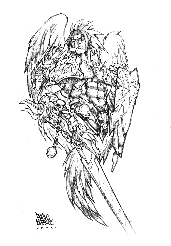 Angel Warrior coloring #19, Download drawings