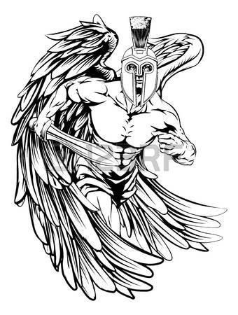 Angel Warrior coloring #6, Download drawings