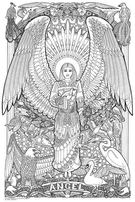 Angel Warrior coloring #7, Download drawings