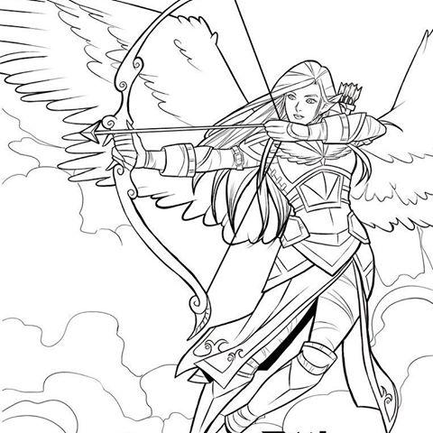 Angel Warrior coloring #5, Download drawings