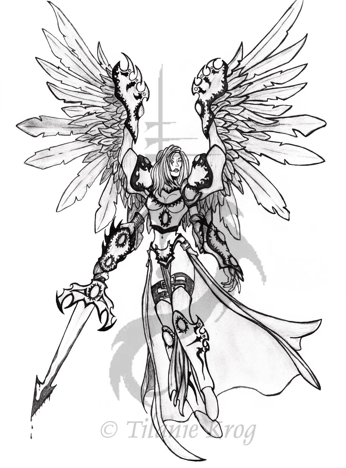 Angel Warrior coloring #2, Download drawings