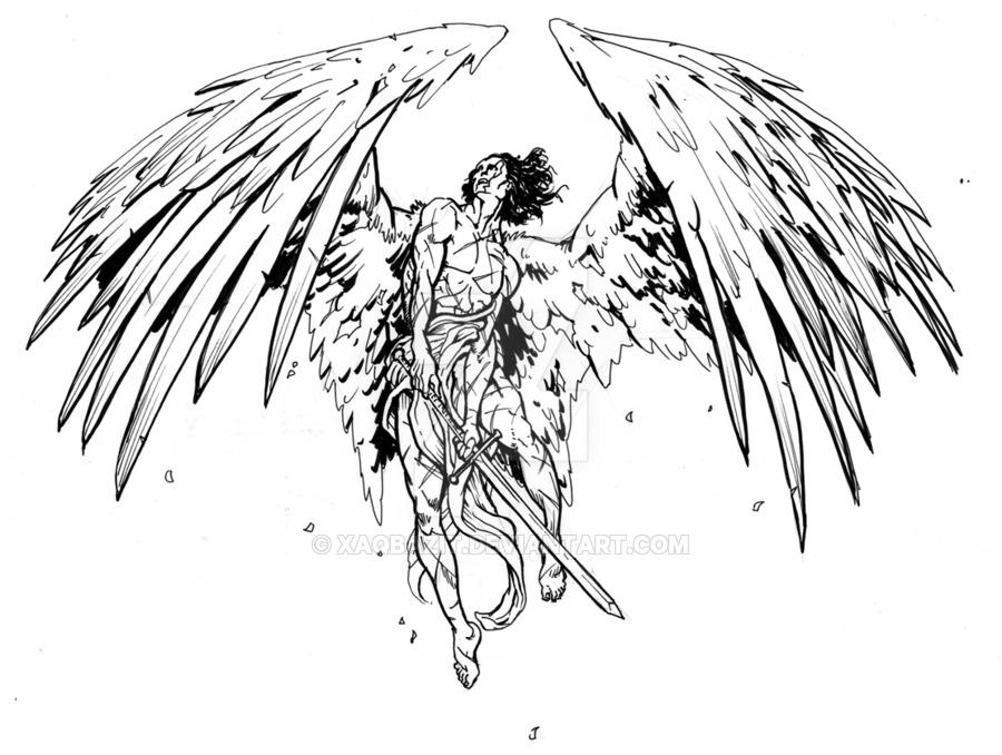 Angel Warrior coloring #4, Download drawings