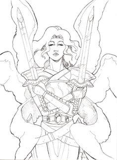 Angel Warrior coloring #18, Download drawings