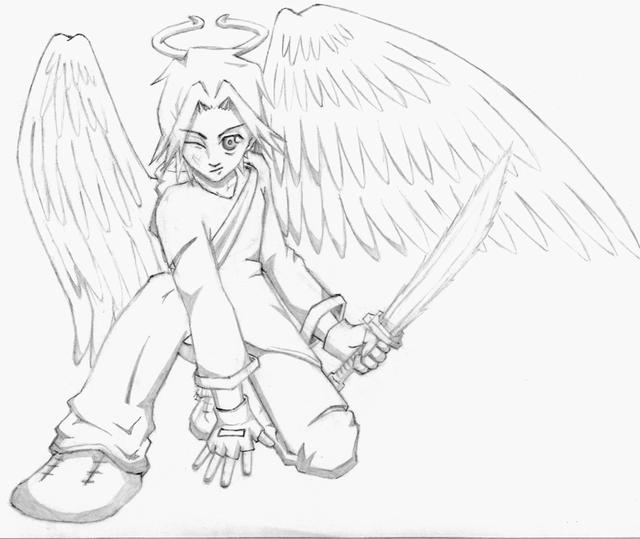 28 Angel Drawings Free Drawings Download: Angel Warrior Coloring, Download Angel Warrior Coloring