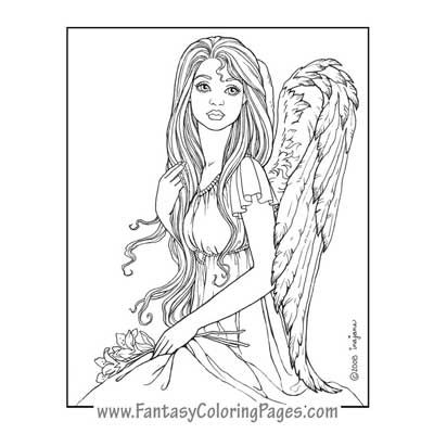 Angel Warrior coloring #17, Download drawings