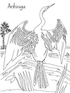 Anhinga svg #1, Download drawings