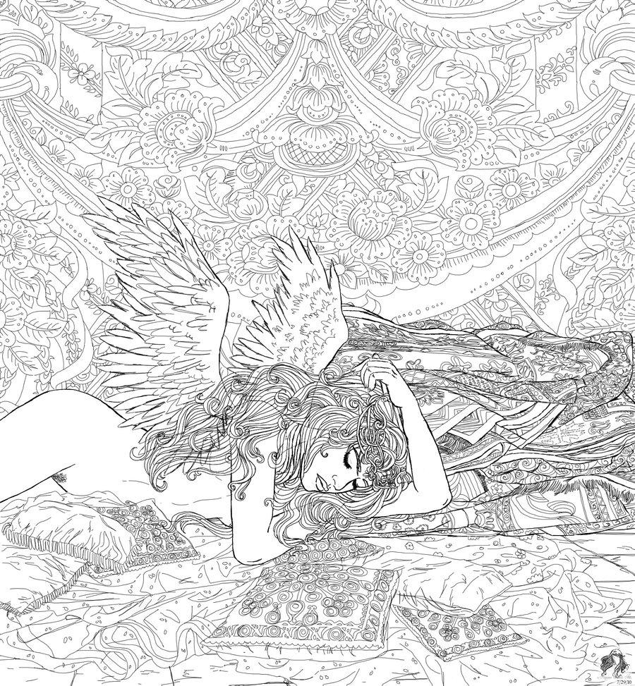 Anjos coloring #16, Download drawings