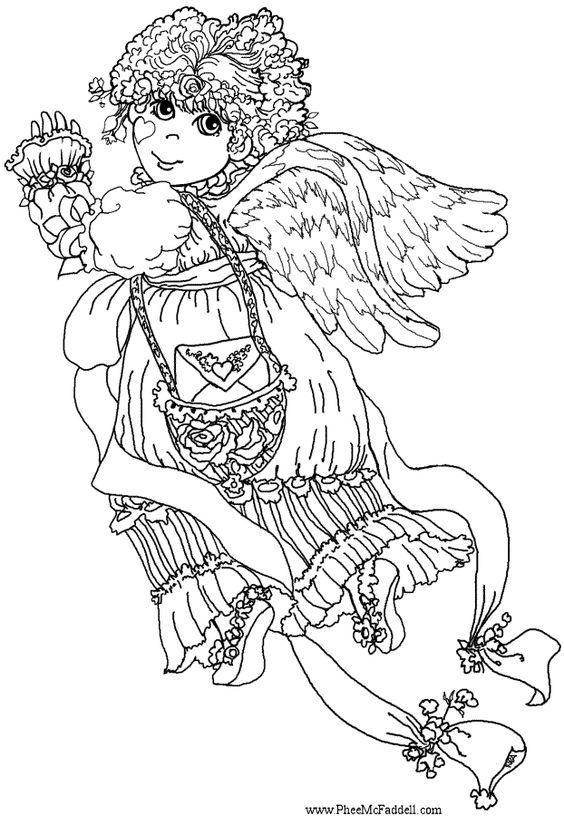 Anjos coloring #4, Download drawings