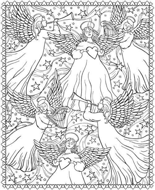 Anjos coloring #5, Download drawings