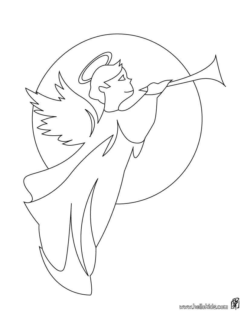 Anjos coloring #1, Download drawings