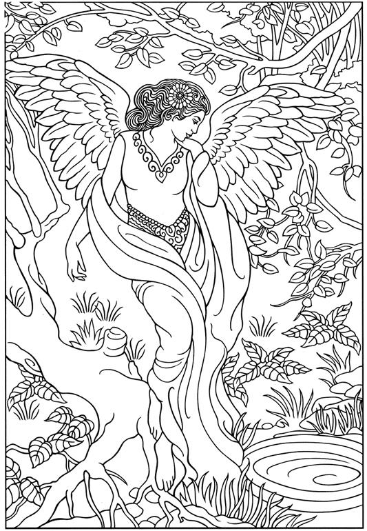 Anjos coloring #12, Download drawings