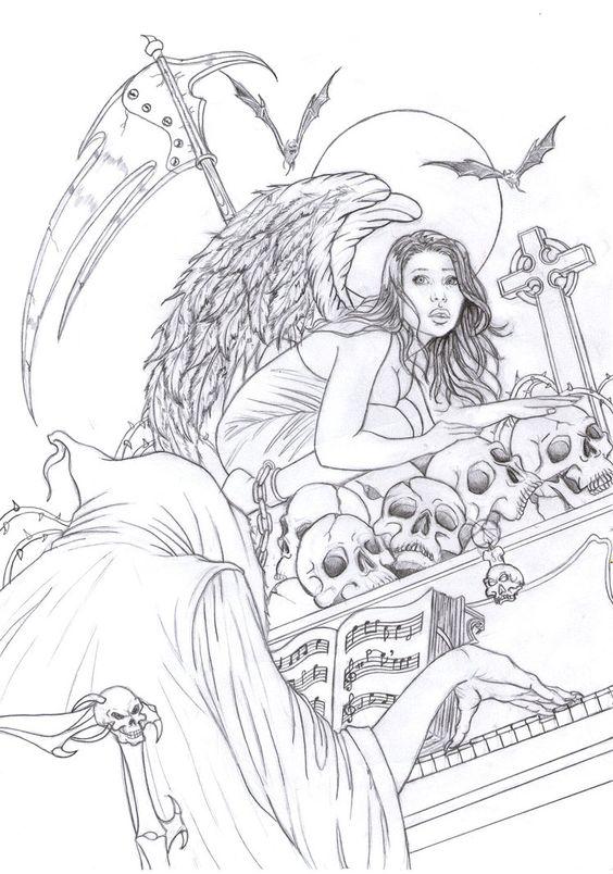 Anjos coloring #6, Download drawings