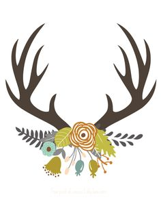 Antler clipart #10, Download drawings