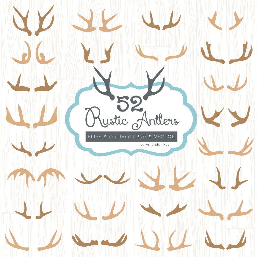 Antler clipart #2, Download drawings