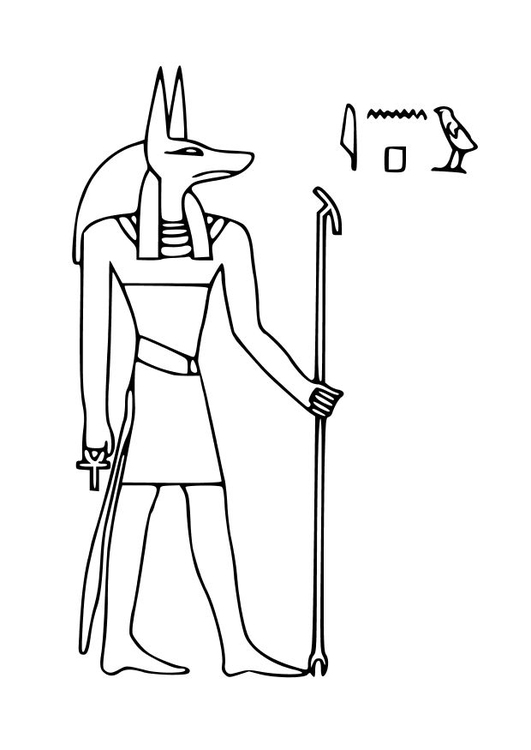Anubis coloring #7, Download drawings