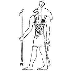Anubis coloring #4, Download drawings