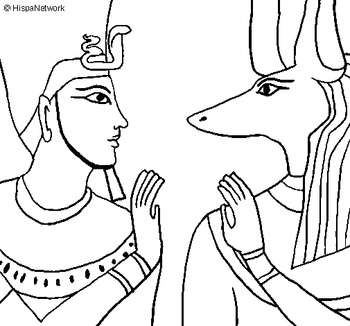 Anubis coloring #13, Download drawings