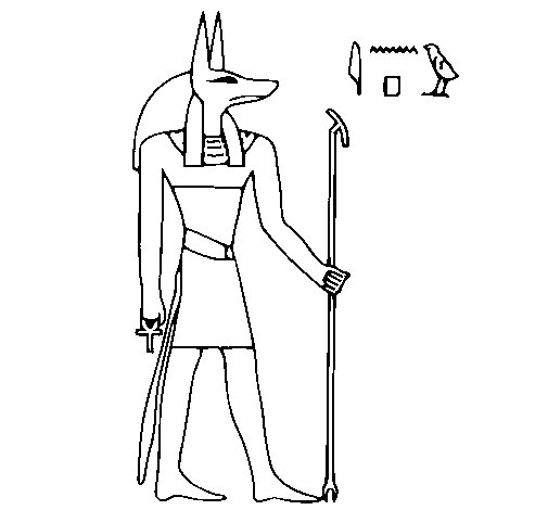 Anubis coloring #5, Download drawings