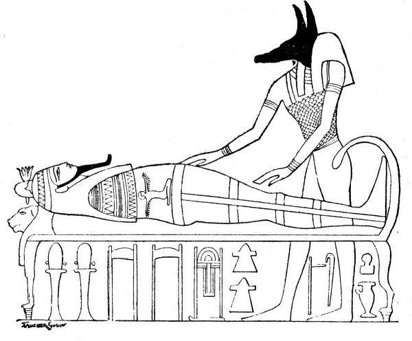 Anubis coloring #10, Download drawings