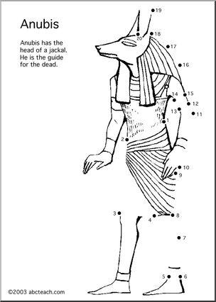 Anubis coloring #3, Download drawings