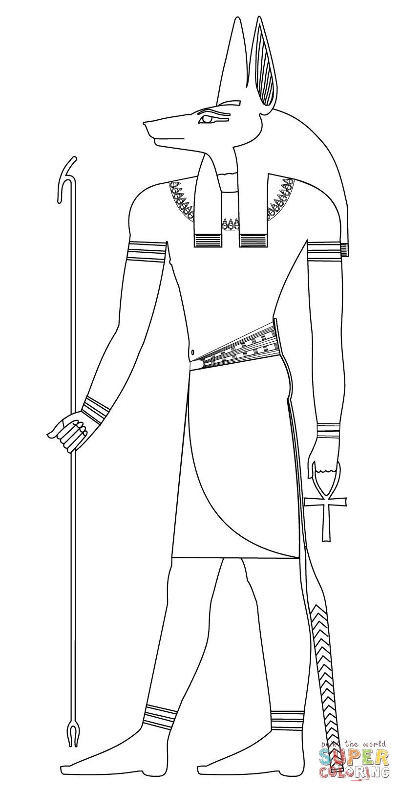 Anubis coloring #18, Download drawings