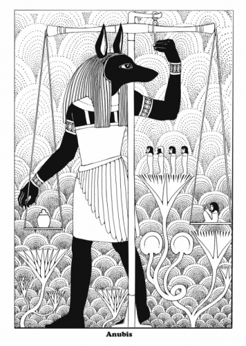 Anubis coloring #7, Download drawings