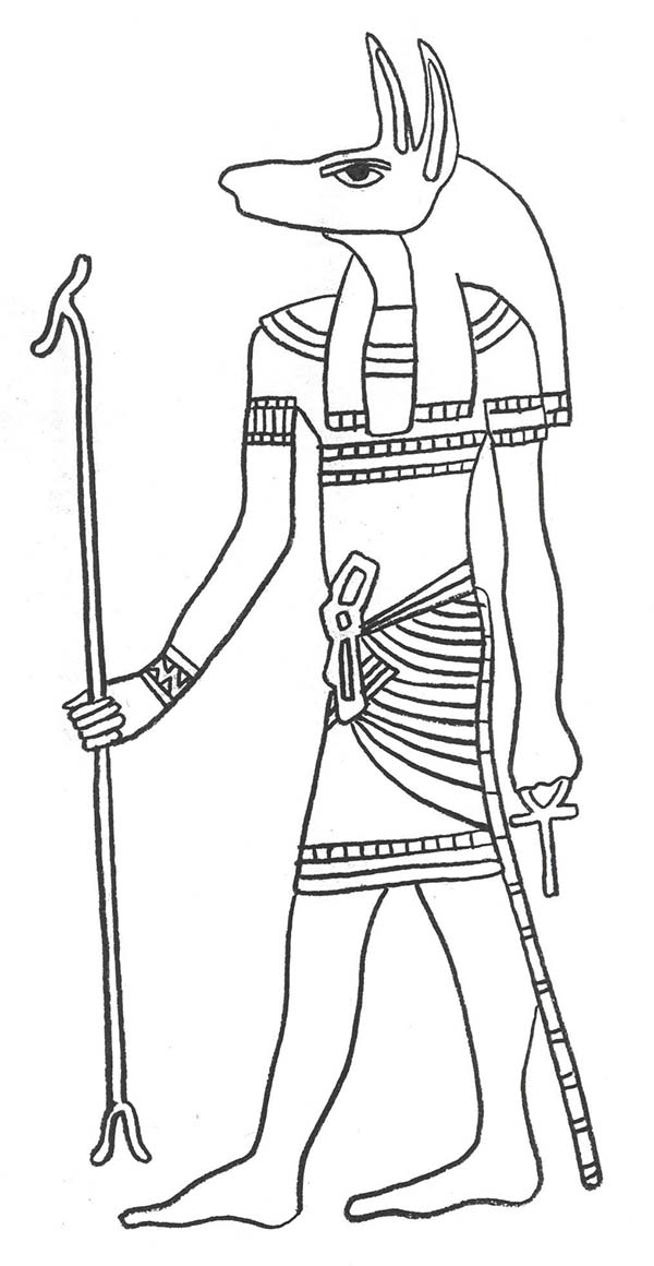 Anubis coloring #20, Download drawings