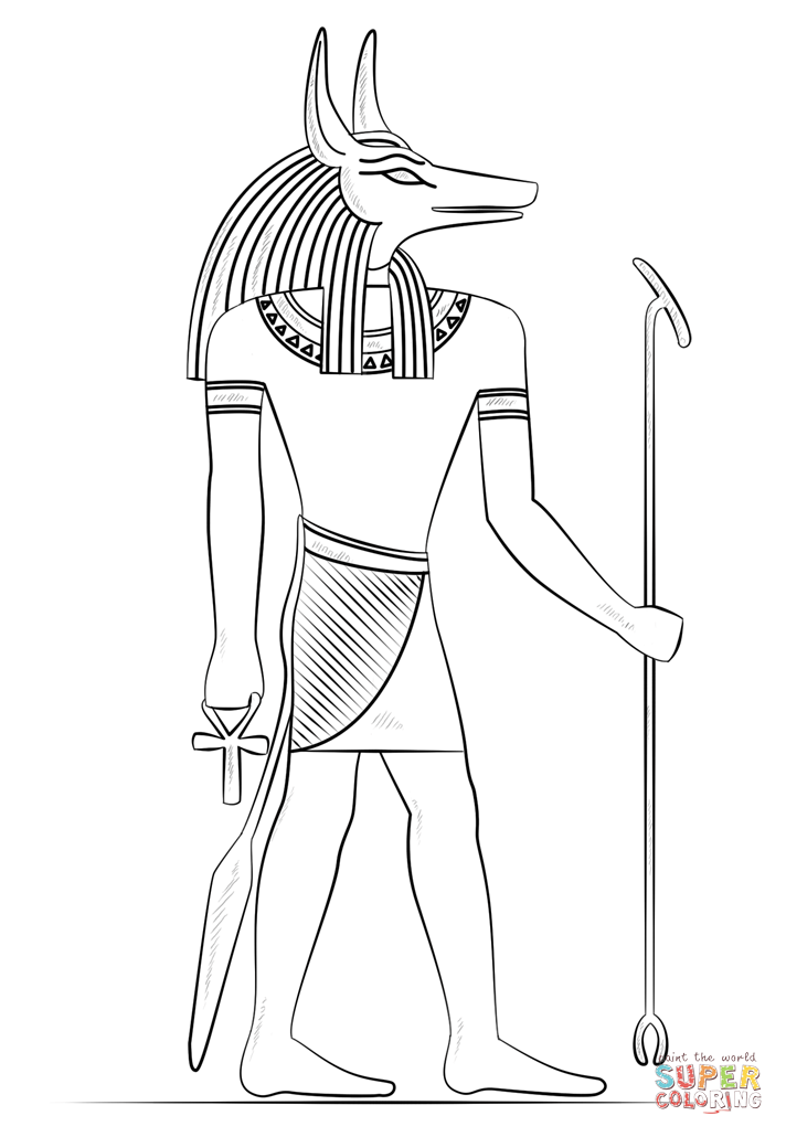 Anubis coloring #12, Download drawings