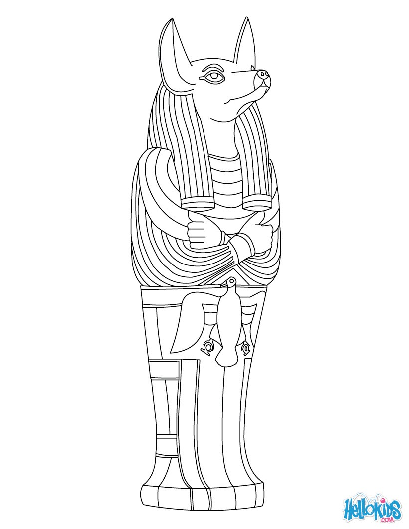 Anubis coloring #4, Download drawings