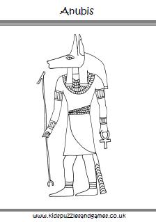 Anubis coloring #6, Download drawings
