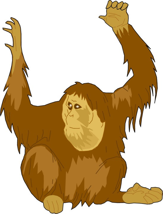 Ape clipart #3, Download drawings