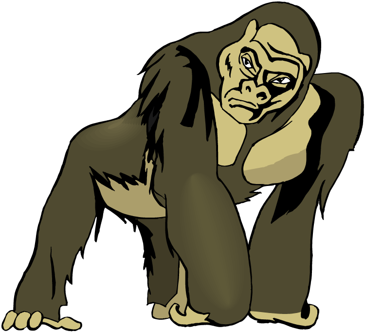 Ape clipart #11, Download drawings