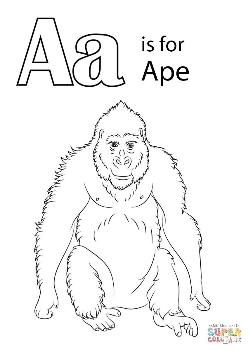 ape coloring pages printable - photo#2