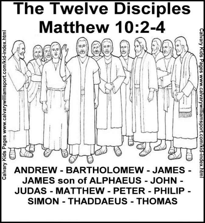 Apostles coloring #9, Download drawings