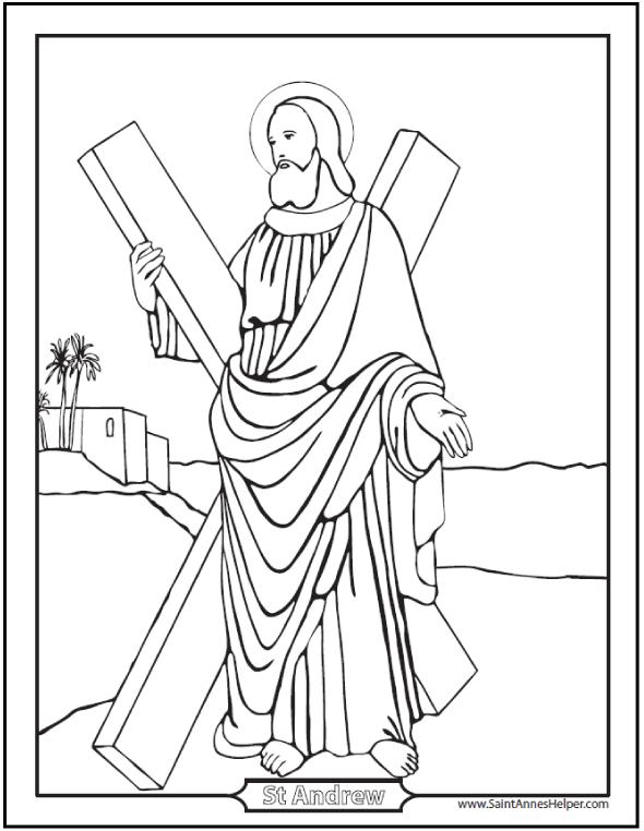 Apostles coloring #7, Download drawings