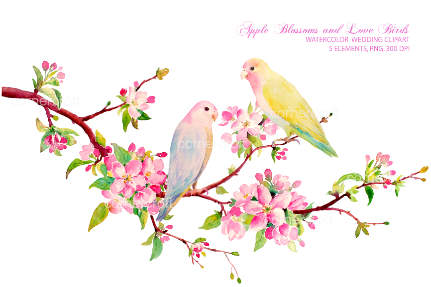 Apple Blossom clipart #4, Download drawings