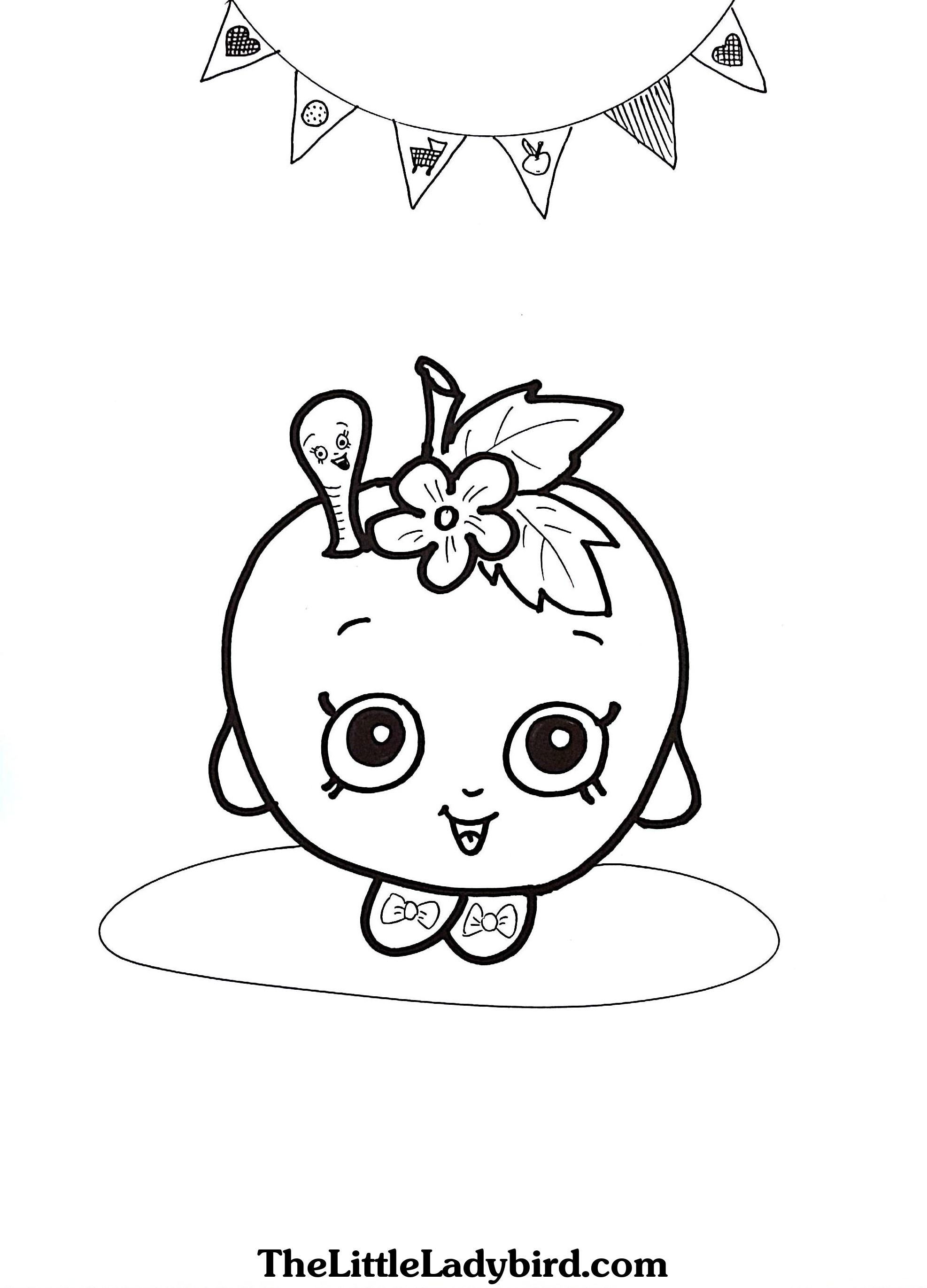 coloring pages apple blossom - photo#20