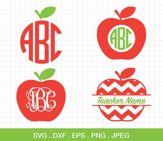 apple monogram svg #801, Download drawings