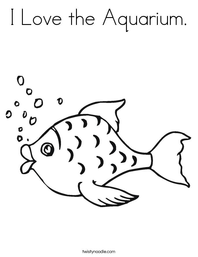 Aquarium coloring #11, Download drawings