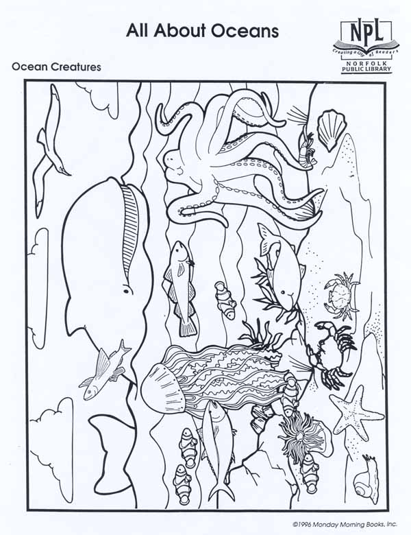 Aquarium coloring #3, Download drawings