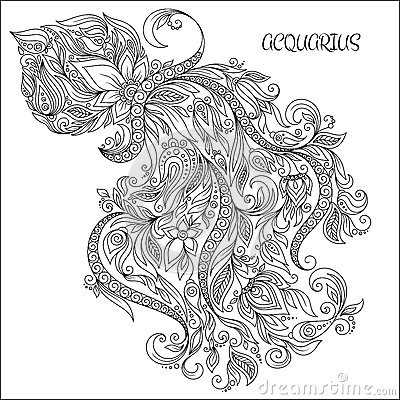 Aquarius (Astrology) coloring #20, Download drawings